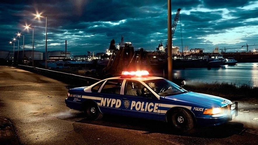 American-Police-Car-Night