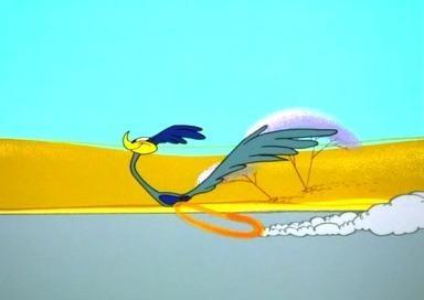 Struś pędziwiatr z kreskówki Warner Bros